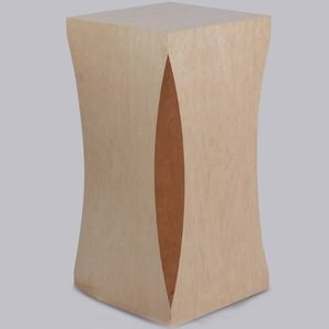 Scalloped Wood Pedestals